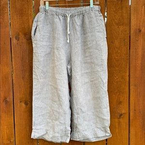 Flax   100% Linen Cropped Pants